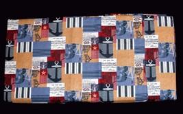Coastal Nautical Theme Port Jefferson Quilt-Like Squares King Sheet Set Nip Nice - $79.99