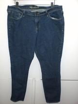 W13619 Womens OLD NAVY Sweetheart Dark Blue Denim SKINNY JEANS Pants 14 - $28.92