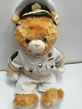 "Build A Bear  USA Navy Brown Teddy Bear Plush Doll 16"" BABW Collectable - $39.99"