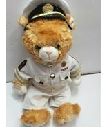 "Build A Bear  USA Navy Brown Teddy Bear Plush Doll 16"" BABW Collectable - $39.99"
