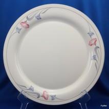 Lenox Glories on Grey Dinner Plate Cream Chinastone Pink Blue Flowers 10... - $7.92