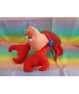 "Walt Disney Store Little Mermaid Sebastian Crab Plush Toy 12"" - $18.76"