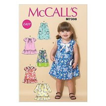 Mccall's Patterns 7308 CCB Sizes 1 - 4 Toddlers Dresses, Multi-Colour by McCall' - $14.21