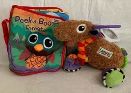 """Lamaze """"PEEK-A-BOO FOREST"""" FABRIC BABY BOOK Sensory TOY & Moose Attachable - $19.79"""