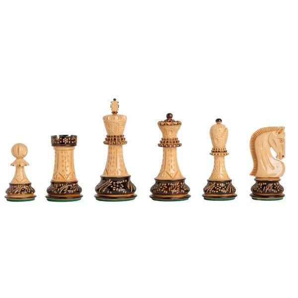 "Dubrovnik ROYAL BURNT wooden chess pieces - ARTISTIC - KH 8 cm / 3,1"" - GIFT for sale  USA"