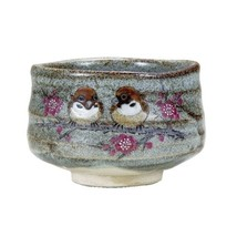 Kutani yaki ware Japanese Matcha tea bowl Usagi Suzume Sparrow Made in J... - $79.13