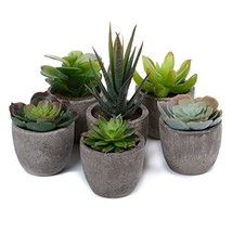 T4U Plastic Artificial Succulent Plants with Pots Mini Size for Home Off... - $24.75