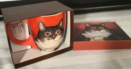The LANG Co Coffee Tea LOWELL HERRERO Cup Mug PIGLET SMITH Cat - $29.65