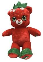 Build A Bear Shopkins Large Plush Strawberry Kiss Teddy Bear Stuffed Ani... - $17.32