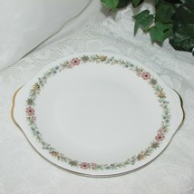 Paragon Fine Bone China Belinda Cake Platter Round Serving Plate Floral Handles - $37.95