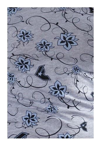 Famous Stars & Straps Womens Heather Grey Blue Flower Swing Set Girls T-Shirt