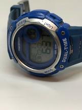Vintage Marathon Dual Time Alarm Chrono Blue Watch  - $21.77