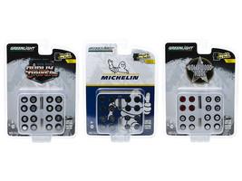 "\Wheel & Tire Packs\"" Set of 3 Multipacks Series 3 1/64 by Greenlight"" - $27.48"