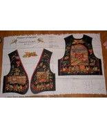 1 Vintage Novelty Cranston Quilt Fabric Panel Season of Harvest Panel Vest  - $8.49