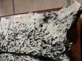 Sale, Goat Leather Rug, Crust Processed Rug, Home Decor Rug, Black & White Rug image 3