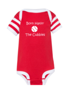 St. Louis Cardinals Fan Baby Born Hatin' The Cubs Funny Baseball Bodysuit - $9.95