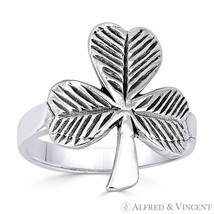 Irish Shamrock 3-Leaf Clover .925 Sterling Silver Irish / Celtic Luck Ch... - $33.99