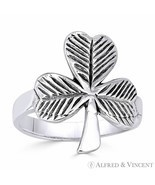 Irish Shamrock 3-Leaf Clover .925 Sterling Silver Irish / Celtic Luck Ch... - $27.19