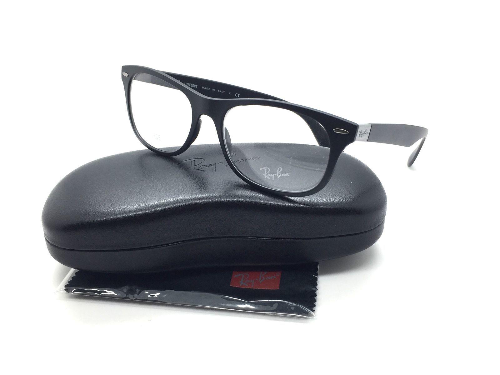 51ef25805a S l1600. S l1600. Ray Ban Unisex Schwarz Quadratisch Neu Brille Liteforce RB  7032 5204 52 Plastik