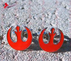Star Wars Starbird Red Cufflinks  – Wedding, Birthday, Graduation, Dad's Gifts - $3.95