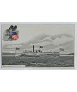 Old Undivided Back Postcard Ship Steamer Vermont Lake Champolain, New York  - $14.65