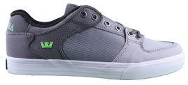 Supra Homme Vaider Bas Décoloré Gris/Blanc Nylon Skateboard Shoes Basket S36042 image 6
