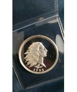 1/2 oz Silver Round - 1793 Flowimg Hair Dollar Design - $27.00