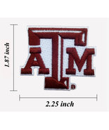 """Texas A&M Logo Size 2.25"""" Embroidered Iron On Patch. - $1.15"""