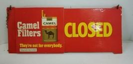 Vintage Slide Camel Filter open/closed sign R J Reynolds Tob. Co Cardboard - $29.69