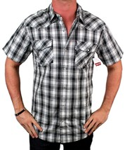Levi's Men's Cotton Short Sleeve Button Up Casual Dress Shirt 3LYSW061CC-GRY