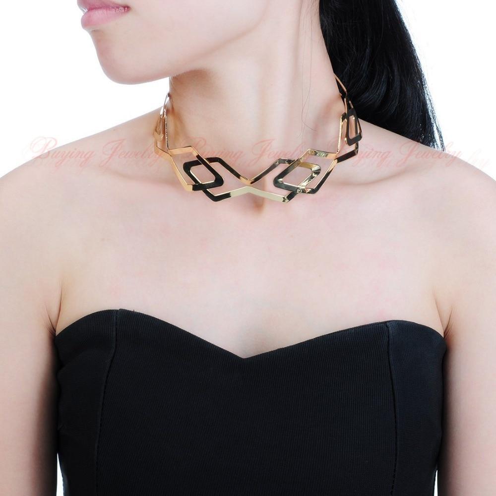 Fashion gold silver jewelry beauty collar choker bib charm party necklace new