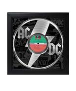 AC/DC Laser Cut Record With Poster Art Shadowbox C3 - £95.73 GBP