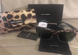 NIB Dolce & Gabanna Women's DNA Square Acetate Frame Sunglasses Leopard ... - $107.53
