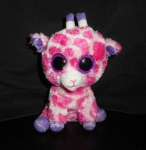 Ty Beanie Boos Brindilles Bébé Rose Violet Girafe Peluche Animal Jouet Paillette - $8.60