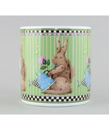 Sakura Easter Debbie Mumm 1998 Rabbit Spring Is In The Air Green Coffee ... - $8.91