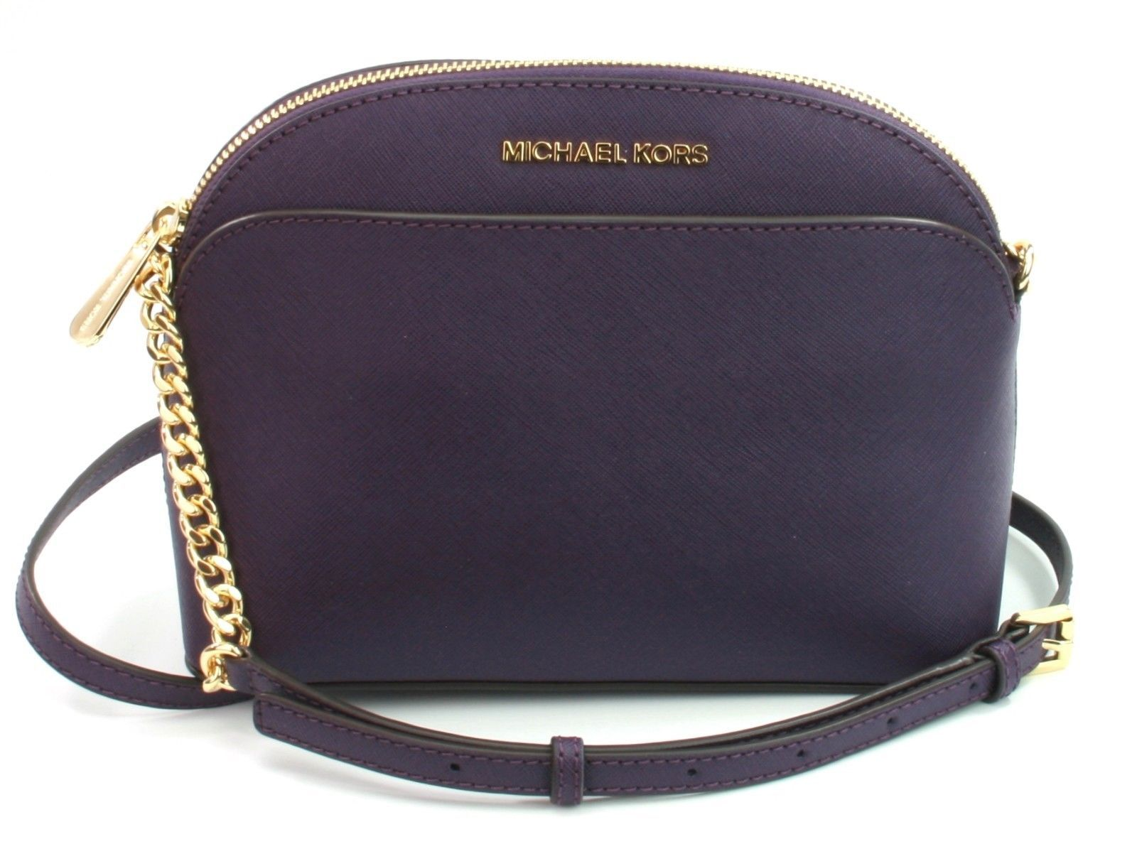 537ef1a6318a MICHAEL KORS Emmy Cuir Violet Chaîne Sac and 50 similar items