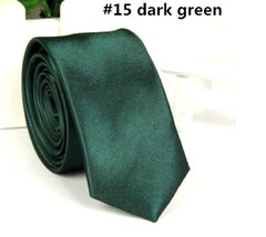 Casual Solid Plain Classic Skinny Silk like Woven Slim Necktie Men's Tie... - $6.88