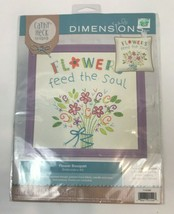 Embroidery Kit Dimensions Cathy Heck Flower Bouquet Flowers Feed The Sou... - $12.86