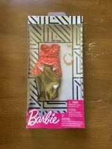 Barbie Fashion Outfit Pack Red Gold Dress Accessories Doll Clothes New - $7.56