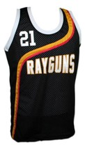 Tim Duncan #21 Roswell Rayguns Basketball Jersey Sewn Black Any Size image 1