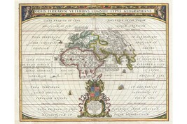 Map Of The Ancient World; Antique Map; Historic Cartography Jansson 1650 - $26.72+