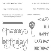Stampin' Up! Age Awareness Clear Cling Stamp Set #135381