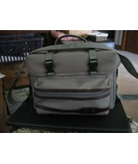 Gray Canvas Camera Bag PR-700 with Zippered Front Pouch - $19.79