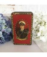 Antique Coronation Tin litho box, King Edward VIII Prince of Wales, Vint... - $36.47