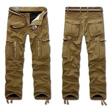 Men's Multi Pocket Military Jeans Casual Training Plus Size Cotton Breathable Ar