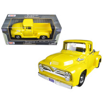 1955 Ford F-100 Pickup Truck Yellow 1/24 Diecast Model Car by Motormax 79341Y - $30.23