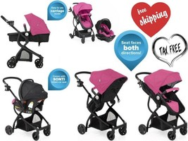 Urbini Omni Plus 3 in 1 Travel System Stroller Car Seat Pink - $189.26