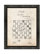 Life Game Patent Print Old Look with Beveled Wood Frame - $24.95+