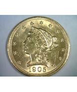 1905 2 1/2 DOLLAR LIBERTY GOLD NICE UNCIRCULATED NICE UNC. NICE ORIGINAL... - $395.00