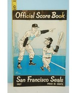 1957 San Francisco Seals Score Book with 2 Ticket Stubs Unscored - $32.53